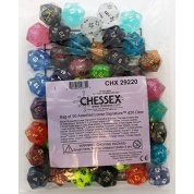 Chessex Signature Bags of 50 Asst. Dice - Poly. d20 Dice