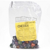 Chessex Speckled Bags of 50 Asst. Dice - Loose Speckled Polyhedral d10 Dice