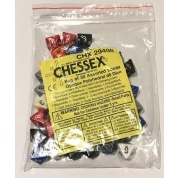 Chessex Opaque Bags of 50 Asst. Dice	 - Loose Opaque Polyhedral d8 Dice