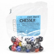 Chessex Opaque Bags of 50 Asst. Dice	 - Loose Opaque Polyhedral d12 Dice