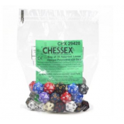 Chessex Opaque Bags of 50 Asst. Dice	 - Loose Opaque Polyhedral d20 Dice