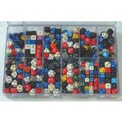Chessex Loose Dice Samplers, Displays & 125 Polyhedral Dice Assortments - Large Sampler: Opaque Dice