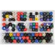 Chessex Loose Dice Samplers, Displays & 125 Polyhedral Dice Assortments - Assortment: Opaque Polyhedral Dice