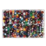 Chessex Loose Dice Samplers, Displays & 125 Polyhedral Dice Assortments - Large Sampler: Gemini Dice