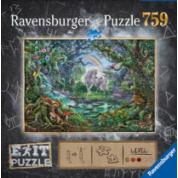 Ravensburger EXIT Puzzle - Einhorn Exit - 759pc - DE/FR/IT/NL/EN/SP