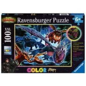 Ravensburger Children´s Puzzle - Dragons, Leuchtende Dragons - 100pc XXL - DE/EN