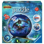 Ravensburger 3D Puzzle-Ball - Dragons 3 - 72pc - DE/EN