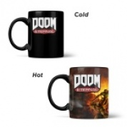 Doom Metal Badge Heat Mug