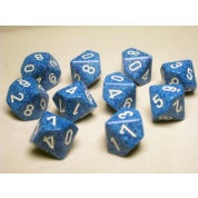 Chessex Speckled Polyhedral Ten d10 Set - Water