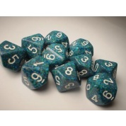 Chessex Speckled Polyhedral Ten d10 Set - Sea