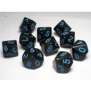 Chessex Speckled Polyhedral Ten d10 Set - Blue Stars