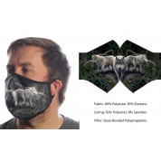 Wild Bangarang Face Mask - WOLF Anne Stokes Size L