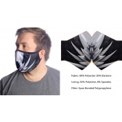 Wild Bangarang Face Mask - BLACK DRAGON Size L