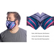 Wild Bangarang Face Mask - BLUE DRAGON Size M