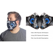 Wild Bangarang Face Mask - Blue Mecha Size M