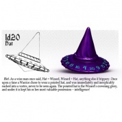 PolyHero 1d20 Hat - Violet Storm with Lightning