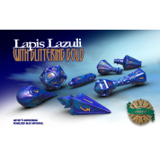 PolyHero Wizard Set - Lapis Lazuli with Glittering Gold