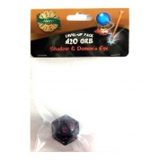 PolyHero 1d20 Orb - Shadow with Demon's Eye