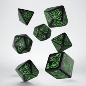 Call of Cthulhu 7th Edition Black & green Dice Set (7)