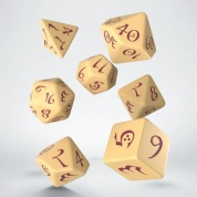 Classic RPG Beige & burgundy Dice Set (7)