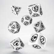 Dragons White & black Dice Set (7)