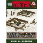 Battlefield In A Box - Log Emplacements - Gun Pit Markers (winter)