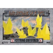 Battlefield In A Box - Citrine Crystals - Yellow - (x6) - 30mm