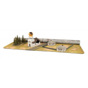 Battlefield In A Box - Gaming Mat - Brown/City
