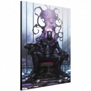 Marvel Art Gallery Wood Panel - Black Panther on Throne