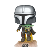 Funko POP! Star Wars: The Mandalorian - Mando Flying w/Jet Pack Vinyl Figure 10cm