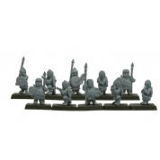 Warlords of Erehwon - Halflings with Spears - EN