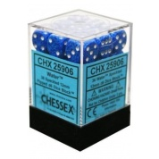 Chessex Speckled 12mm d6 Dice Blocks with Pips (36 Dice) - Water