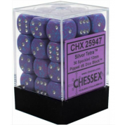 Chessex Speckled 12mm d6 Dice Blocks with Pips (36 Dice) - Silver Tetra