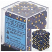 Chessex Speckled 12mm d6 Dice Blocks with Pips (36 Dice) - Twilight