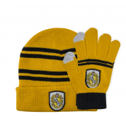 Kids Hufflepuff Gloves and Beanie Set