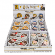 Display + 48 erasers - 12each - (Harry, Drago, Hermione, Dumbledore)