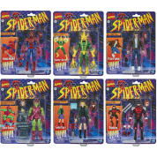 Marvel Legends Series Spider-Man 6-inch Collectible Retro Collection Figures Assortment (6)