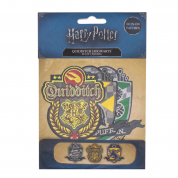 Harry Potter Quidditch Hogwarts Patches/Crests (pack of 3) - Deluxe Edition