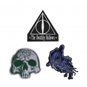Harry Potter Deathly Hallows Patches/Crests (pack of 3) - Deluxe Edition