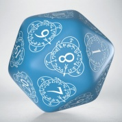 D20 Level Counter Blue & white Die (1)