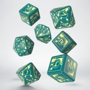 Polaris RPG Turquoise & light yellow dice, 3D6 +3D10 + 1D20 (7)