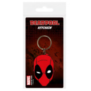 Pyramid Rubber Keychains - Deadpool (Face)