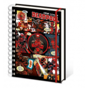 Pyramid A5 Wiro Notebook - Deadpool (Here Comes Deadpool)