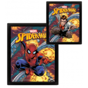 Pyramid 3D Lenticular Poster - Marvel (Spider-Man Costume Blast) (3 Posters)