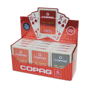 Display COPAG 100% Plastik Poker, Jumbo Index, 4 Corner, blau & rot - DE