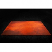 Kraken Wargames Gaming Mat - Splash Orange 6x3 2.0