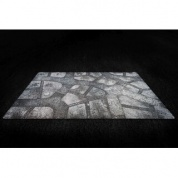 "Kraken Wargames Gaming Mat - Winter Cobblestone City 44""x30"" 2.0"