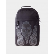 Assassin's Creed Valhalla - Black Screen Printed Backpack, Puff Print
