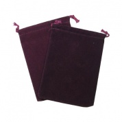 Chessex Small Suedecloth Dice Bags Burgundy