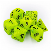 Chessex Vortex 7-Die Set - Bright Green w/black